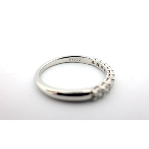 Tiffany & Co Embrace 2.2m .27ct Round Diamond Platinum Eternity Wedding Band 5.5