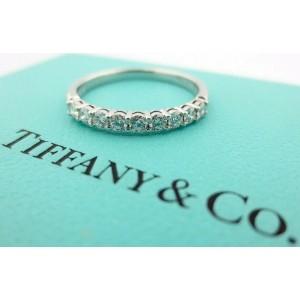 Tiffany & Co Embrace 2.2mm 0.27ct Round Diamond Platinum Eternity Wedding Band 8
