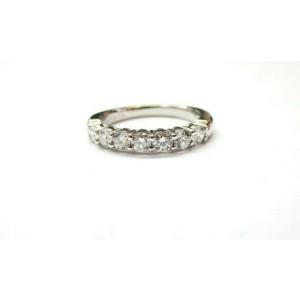 $5,300 Tiffany & Co Embrace 0.57ct Round 7 Diamond Platinum Wedding Band Sz 4.5