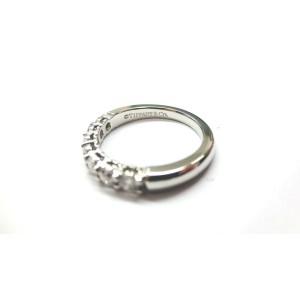 $5,300 Tiffany & Co Embrace 0.57ct Round 7 Diamond Platinum Wedding Band Sz 6