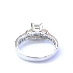 Princess Cut Diamond Three-Stone Engagement Ring Solid White Gold 1.50Ct SIZEABL