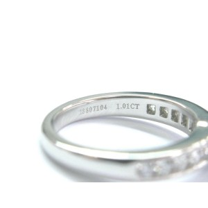 Tiffany & Co Platinum Diamond Channel Set Engagement Ring 1.23CT G-VS2