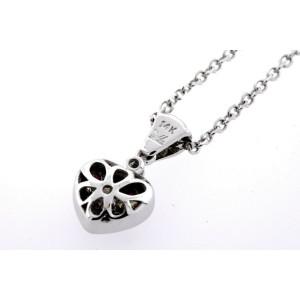 Levian Pendant Ruby Diamond Heart 14k White Gold Upgraded Chain!