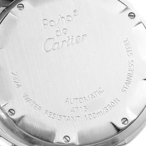 Cartier Pasha C Midsize 35mm Black Dial Steel Mens Watch W31043M7