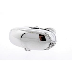 Mirabelle Diamond Pendant Necklace Purse Handbag 18k White Gold M Charm No Chain