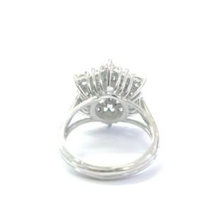 Fine Round Cut Diamond Cluster 19-Stone White Gold Jewelry Ring 1.50Ct Size 7