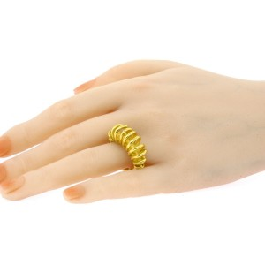 Denise Roberge Ring 22k Gold Twist Coil Wrap Band size 7.5