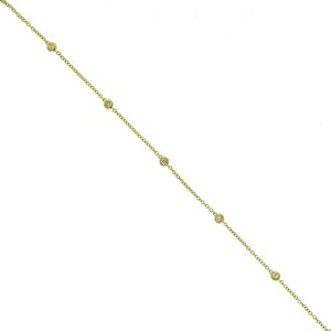 14k Yellow Gold Diamonds by the Yard Bracelet Aprox .25ctw