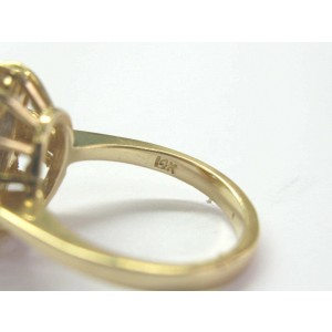 Natural Oval Tanzanite & Diamond Yellow Gold Jewelry Ring 4.20CT 14KT