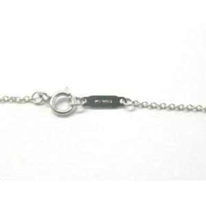 "Tiffany & Co Diamond Heart Pendant Necklace Platinum 950 16"" .25Ct"