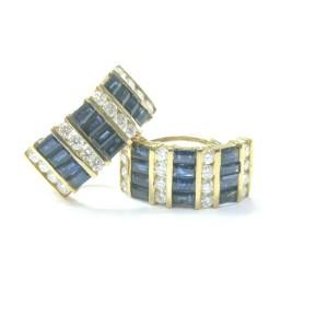 NATURAL 18Kt Gem Sapphire Diamond YG Ring/Necklace/Earrings 13.00Ct VS1