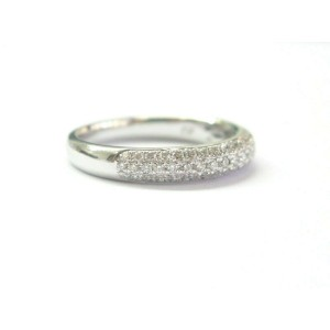 Robin Brothers Diamond Pave Three-Row Ring 14Kt White Gold F-VS1 .61Ct 3.8mm