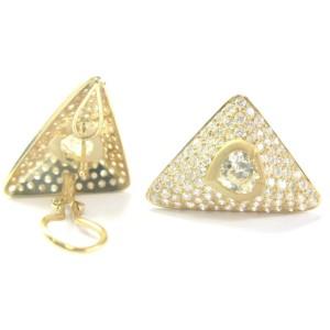 SPADE SHAPE Diamond NATURAL Fancy Light Yellow Diamond Stud Earrings 9.70Ct 18KT