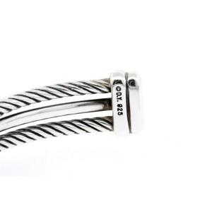 David Yurman Bracelet Crossover Diamond X 3 Line Cable Cuff Sterling Silver