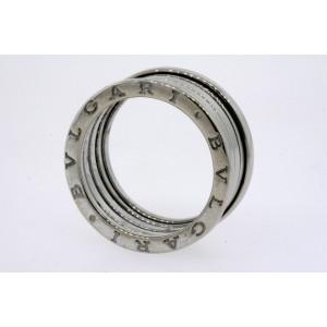 Bulgari B.Zero1 18k White Gold Band Ring size 61 US 9.75 Mens 11mm Bvlgari