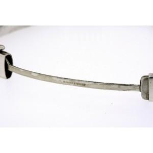 "Tiffany & Co. Bracelet Bangle Hinged Sterling Silver Classic Plain 7"" 7mm"