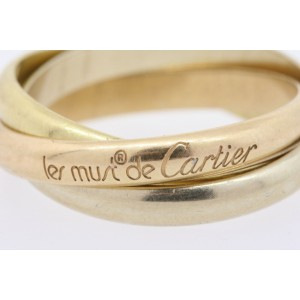 Les Must De Cartier Trinity Band Ring 18k Yellow White Rose Gold sz 65 US 11 Men