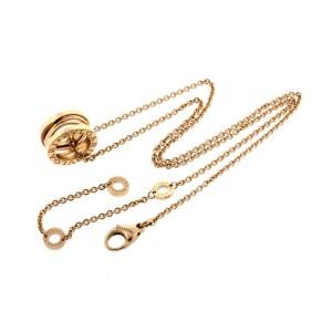 Bvlgari Bulgari B.zero1 Design Legend Pendant 18k Rose Gold Necklace New $3450