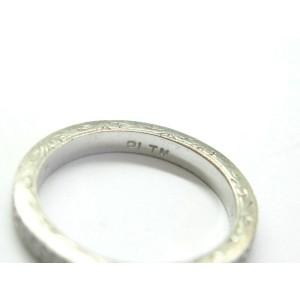 Vintage Milgrain Round Diamond Eternity Band Platinum .27Ct Size 5.5