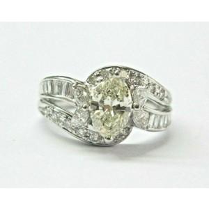 Marquise Diamond Engagement Ring Platinum 900 K-VS1 1.67Ct