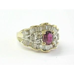 Ballerina Ruby & Diamond Multi Shape Ring 18KT Yellow Gold 2.25Ct
