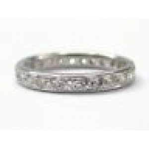 Round Diamond Prong Set Eternity Band .86Ct G-VS2 Size 5 3/4 14Kt White Gold