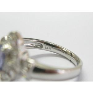 Tanzanite & Diamond Multi Shape Ring 14Kt White Gold 1.00Ct + .80Ct F/VS