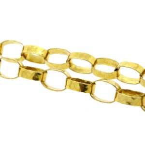 """Ippolita 18k Yellow Gold Necklace Chain 48"""" Extra Long Oval Links Hammered"""
