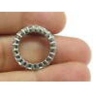 Fine Emerald Cut Diamond Shared Prong Eternity Band Ring WG 4.80CT Size 6.5