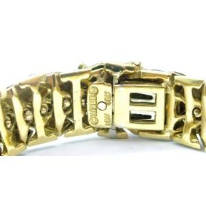"""David Webb SOLID 18Kt Green Enamel Yellow Gold Bracelet 7"""""""