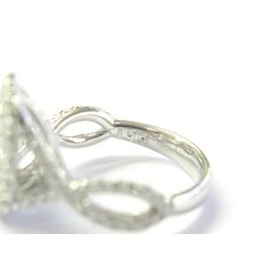 Pear Shape Halo Diamond Engagement Ring 14Kt White Gold 1.91Ct D-I1 100% EYECLEA