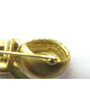 Judith Ripka 18Kt Diamond Ribbon Yellow Gold Brooch .25Ct