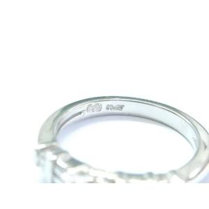 Platinum Emerald Round & Baguette Diamond Engagement Jewelry Ring .93Ct D-VS1