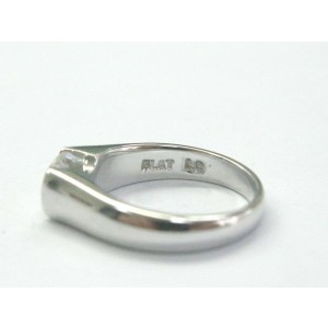Platinum Round Cut Diamond Solitaire Ring .50CT E-VVS2