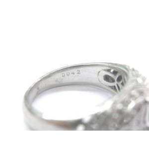 Simon G Platinum NATURAL Diamond Semi Mount Ring .42Ct ( Round .80Ct-1.25Ct )