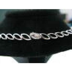 SOLID 18kt Multi-Gem Diamond Pearl Multi-Color White Gold Necklace 17.25CT