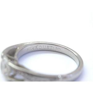 Palladium Round Cut Diamond Split Shank Ring 1.03Ct STARDUST F-VS2