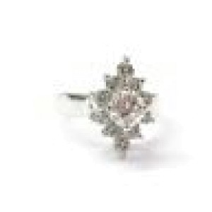 Fine Round Cut Diamond Solitaire W Accent White Gold Jewelry Ring 1.34CT