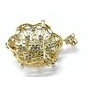 "18KT VINTAGE Diamond Pendant/Brooch Yellow Gold 1.20CT 2"" F Color"