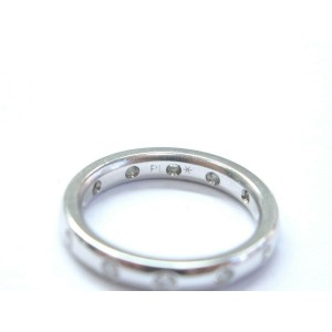 Platinum Diamond Bezel Set Wedding Band Ring 3mm Size 5 .20Ct