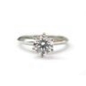 Tiffany & Co Plat Round Diamond Solitaire Engagement Ring 1.08CT D-IF FLAWLESS