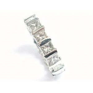 Platinum Princess Cut Diamond Eternity Band Ring 3.30CT Size 5