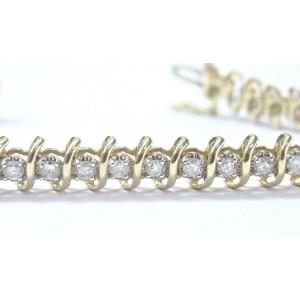 Fine Round Cut Diamond Tennis Bracelet Yellow Gold 14KT 3.60Ct 36-Stones