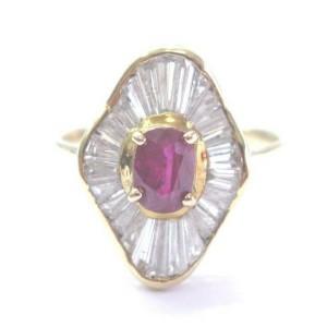 NATURAL Gem Ruby & Diamond Mushroom Yellow Gold Jewelry Ring 14KT 1.75Ct