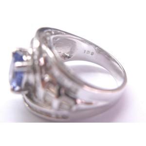 18KT NATURAL Gem Tanzanite & Baguette Diamond Anniversary Ring White Gold 2.84CT