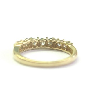 Round Diamond 7-Stone Band Solid 14Kt Yellow Gold .50Ct G-VS2 SIZEABLE 3.8mm