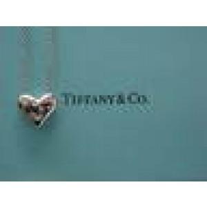 Tiffany & Co Platinum 5-Diamond Heart Pendant Necklace