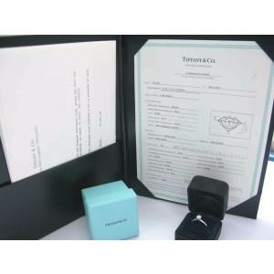 Tiffany & Co Platinum Round Diamond Solitaire Ring  0.48Ct E-VS1