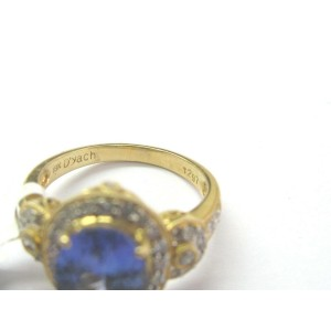 18Kt Natural Oval Tanzanite & Diamond Yellow Gold Ring 3.47CT