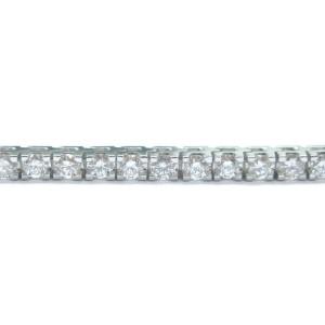 "Round Cut NATURAL Diamond Tennis Bracelet SOLID White Gold 55-Stones 3.30Ct 7"""